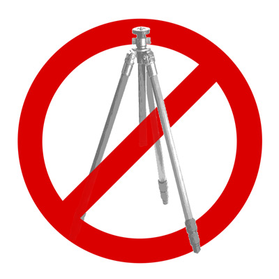 """NO TRIPODS ALLOWED"""
