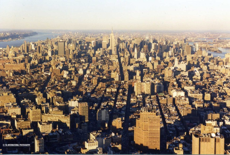 View of Manhattan from WTC South Tower (February 1998)